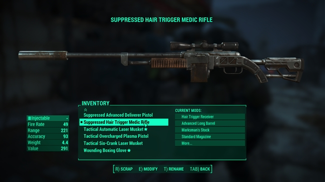 Photo of Fallout 4 – Tranquilizer Rifle Syringer – Semi Auto or Auto