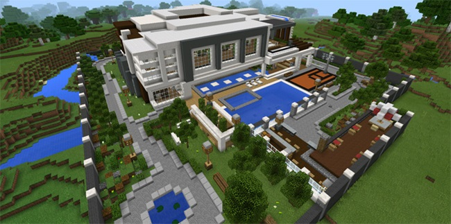 Photo of Minecraft – Modern Mansion Creation Map