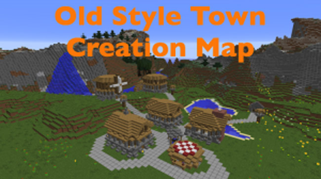 Photo of Minecraft – Old Style Town Creation Map