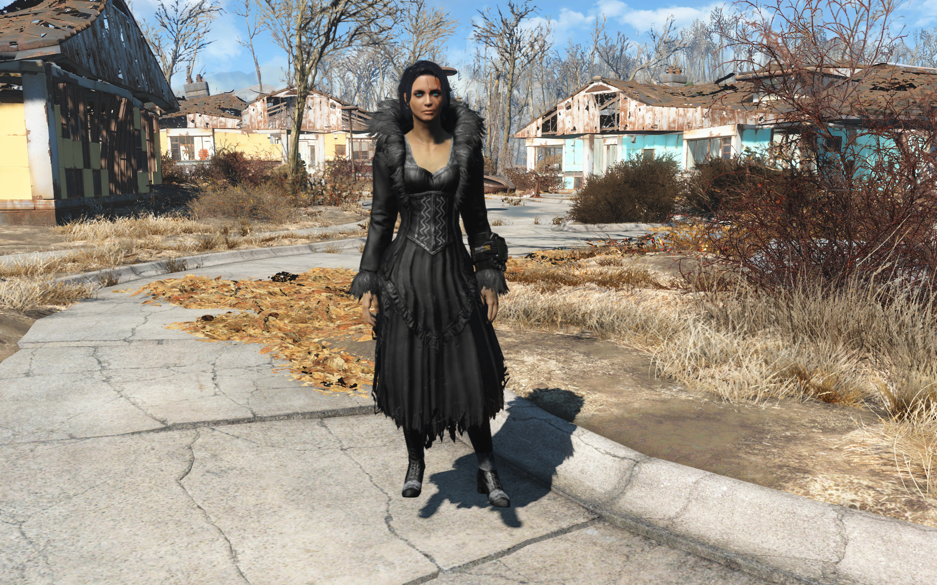 black-feathered-dress-fallout4mods