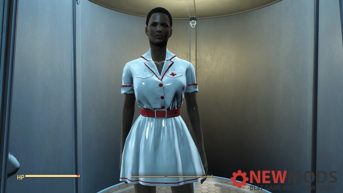 Photo of Fallout 4 – Latex White Nurse Dress Uniform