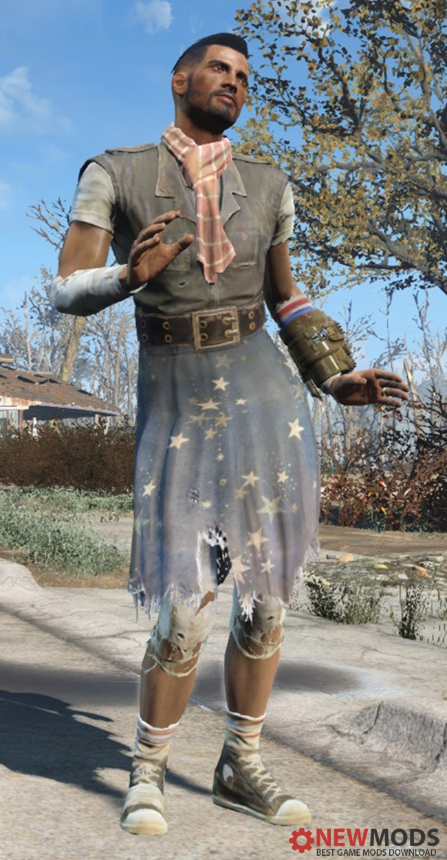 Photo of Fallout 4 – Ratty Skirt Retextured