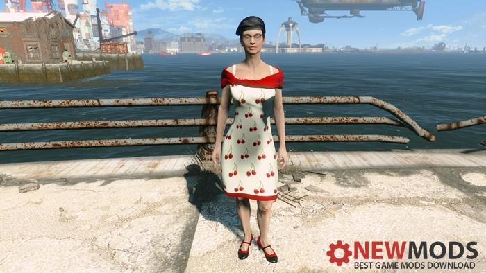 Photo of Fallout 4 – White cherry sequin dress