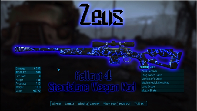Fallout 4 Zeus Standalone Weapon New Pc Game Modding I just heavily edited this page to improve some major grammar errors. new pc game modding