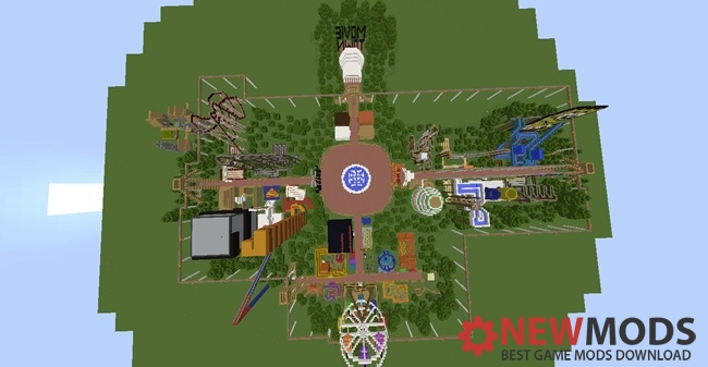 Photo of Minecraft – Movie Town Theme Park Creation Map