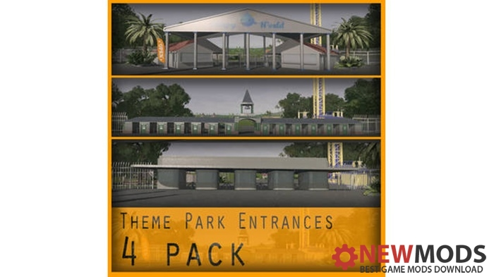 Photo of Cities Skylines – Theme Park Entrance – 4 Pack