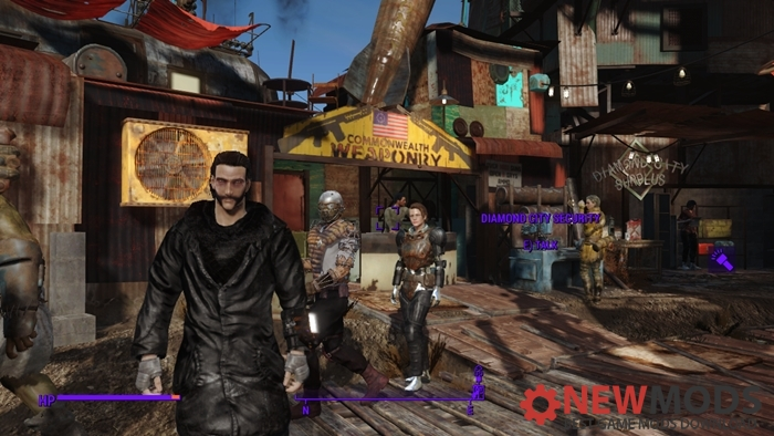 Photo of Fallout 4 – Black Explorer Outfit with Fur Hood