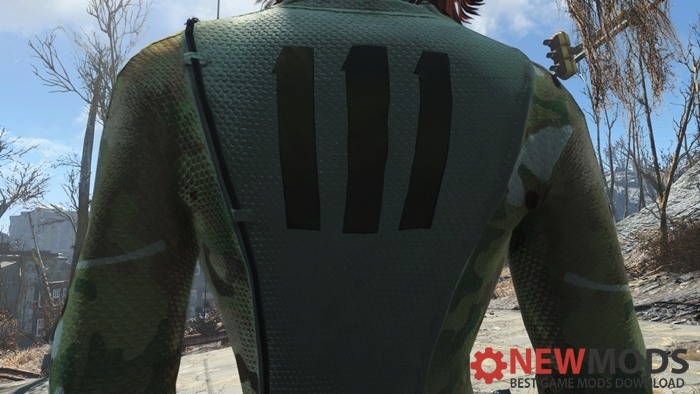 Photo of Fallout 4 – CBBE and Bodyslide Multi-Cam Vault 111 Suit