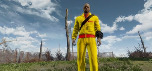 DHL-Re-Texture-Postman-uniform-fun-mod-fallout4