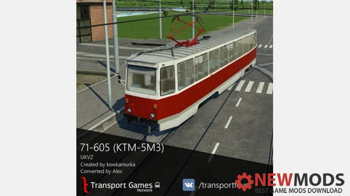 Photo of Transport Fever – 71-605 / KTM-5M3 Tram