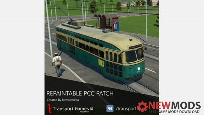 Photo of Transport Fever – Repaintable PCC A7 Patch Tram