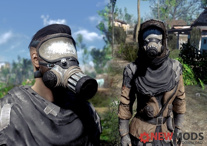 Photo of Fallout 4 – Two-Tone Gas Mask and Outfit