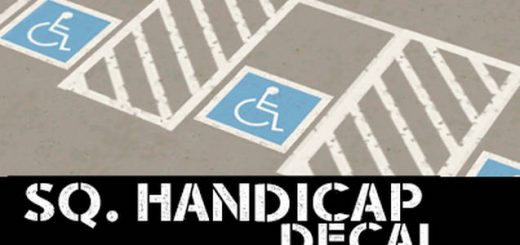 Square Handicap Parking Decal