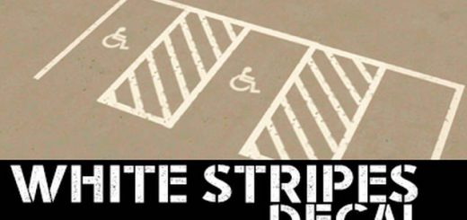 White Stripes Decal