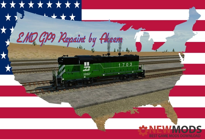 Photo of Transport Fever – EMD GP9 – Burlington Northern