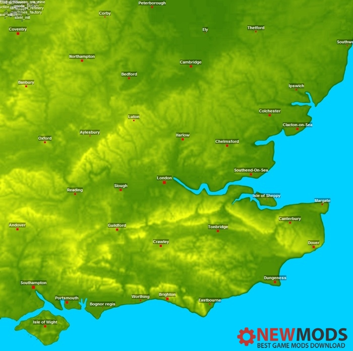 Photo of Transport Fever – South East England No Industry Map V1.0