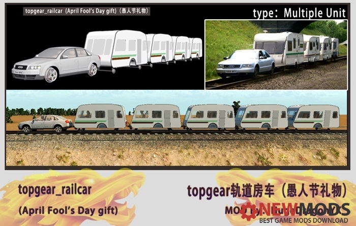 Photo of Transport Fever – TopGear Railcar_Audi+Trailer