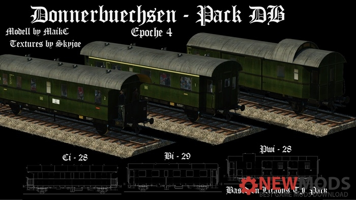 Photo of Transport Fever – Donnerbuchse Class 28 and 29 DB (Epoche IV)
