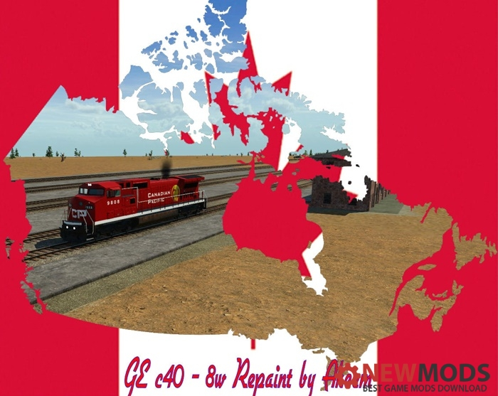 Photo of Transport Fever – GE C40 8W – Canadian Pacific + Double Traction