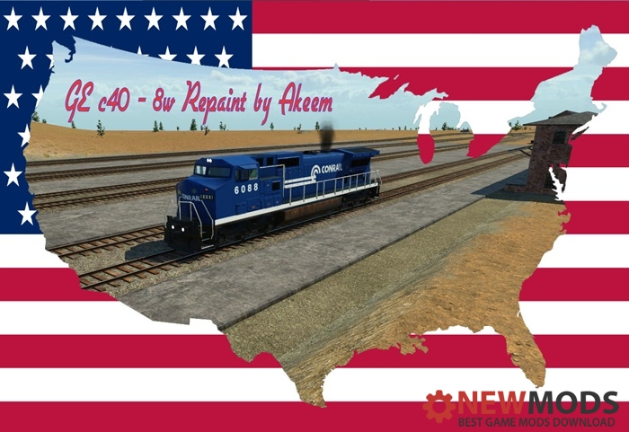 Photo of Transport Fever – GE C40 8W – Conrail + Double Traction