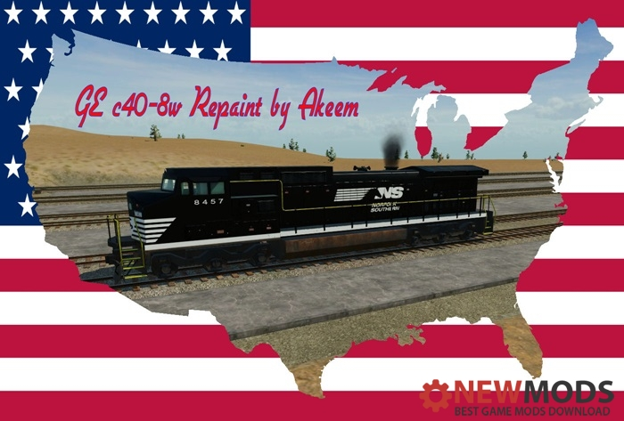 Photo of Transport Fever – GE C40 8W – Norfolk Southern + Double Traction