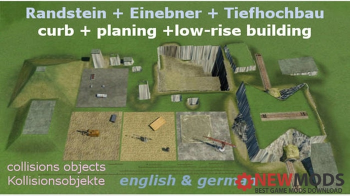 Photo of Transport Fever – Randstein, Einebner, Tiefhochbau : Curb, Planing, Low-Rise Building