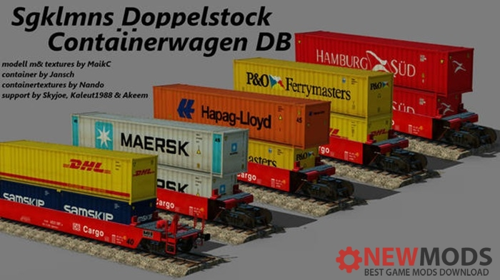 Photo of Transport Fever – DB – Sgklmns Double-Stack Wellcar