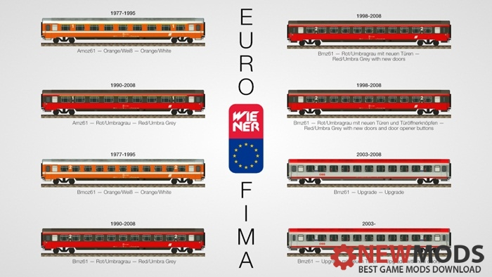 "Photo of Transport Fever – ÖBB ""Eurofima"" Am(o)z & Bm(o)z Set"