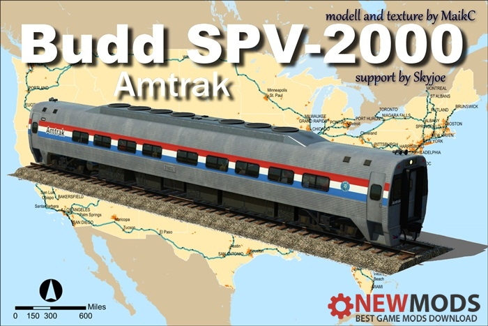 Photo of Transport Fever – Budd SPV-2000 – Amtrak