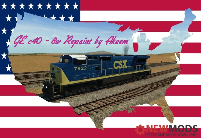 Photo of Transport Fever – GE c40 8w – CSX (Dark Future) + Double Traction