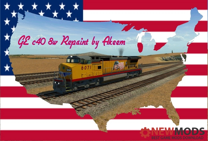 Photo of Transport Fever – GE c40 8w – Union Pacific 02