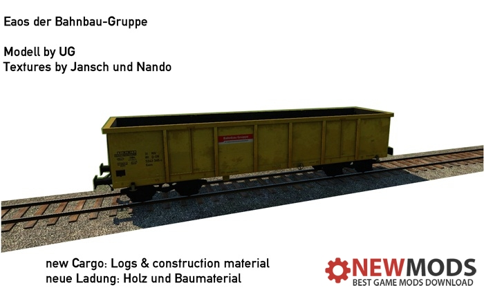 Photo of Transport Fever – Open Wagon Eaos DB-Bahnbau