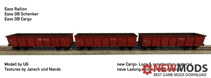 Photo of Transport Fever – Open Wagon Eaos DB-Set