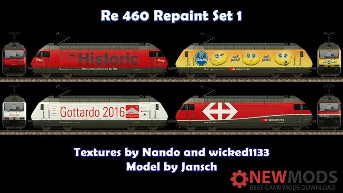 Photo of Transport Fever – Re 460 Repaint Set 1