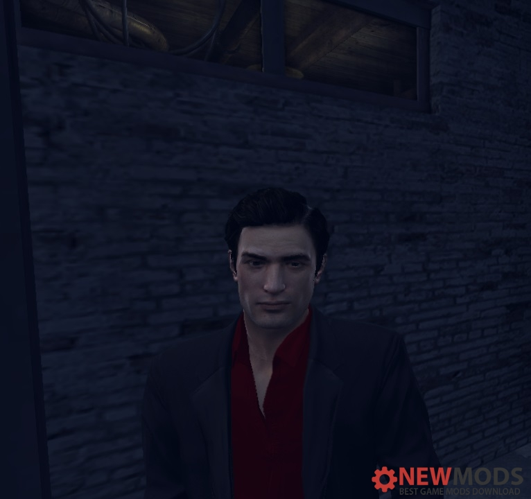 Photo of Mafia 2 – Black Suit With Red Shirt Without Glasses