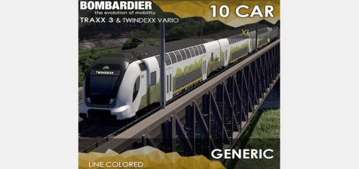 Photo of Cities Skylines – Bombardier TRAXX 3 & TWINDEXX: Generic (10Cars)