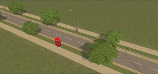 Photo of Cities Skylines – UK Two Lane Road Trees