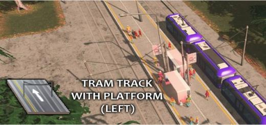Photo of Cities Skylines – 1-way Tram Track with Left Platform