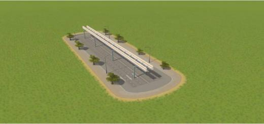 Photo of Cities Skylines – 6 Lane Monorail Road. With Trees.