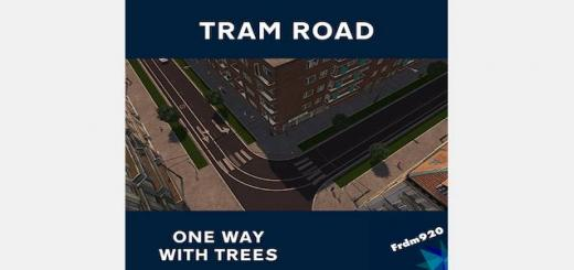 Photo of Cities Skylines – One way Tram with Trees