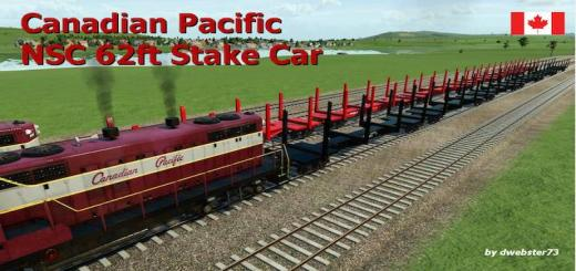 Photo of Transport Fever – Stakecar NSC 62ft – Canadian Pacific