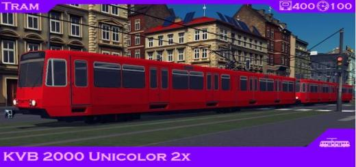 Photo of Cities Skylines – Tram: KVB 2000 Unicolor 2x