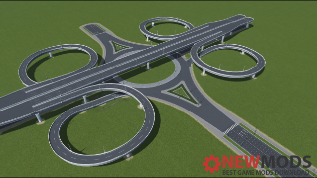 Photo of Cities Skylines – Expressway Intersection