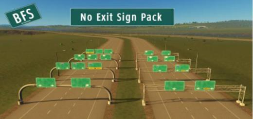 Photo of Cities Skylines – No Exit Sign Pack – Blank American Freeway Signs [FIXED]