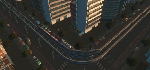2-lane-monorail-road-with-tram-with-trees-one-way-006
