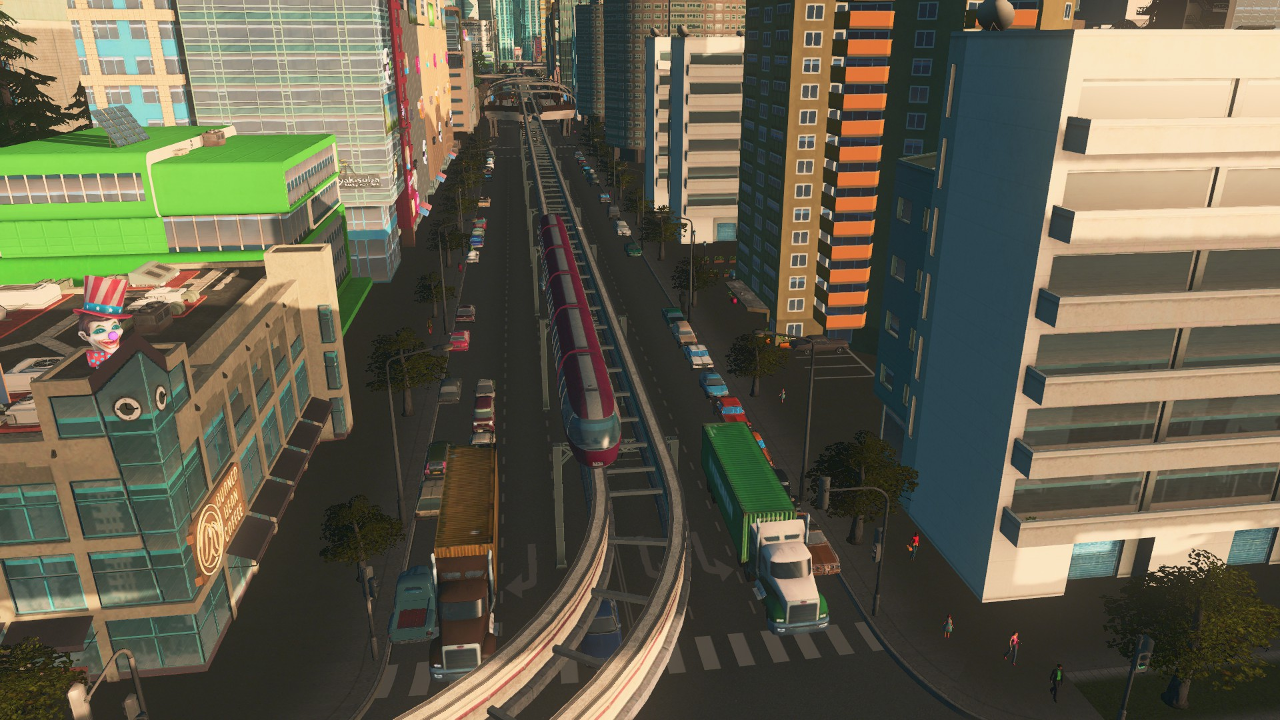 Photo of Cities Skylines – 6 Lane Monorail Road. One Way.