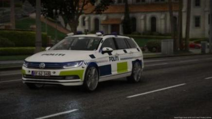 Photo of Gta 5 – 2015 Volkswagen Passat Estate – Danish Police Led And Halogen Lights Versions – (Reflective/oiv/replace