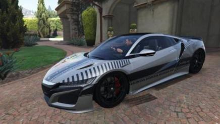 Photo of Gta 5 – Honda Nsx 2016 Livery – Oil Paint / Modern Design Paintjob 1.0