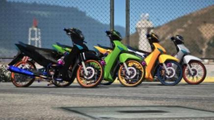 Photo of Gta 5 – Honda Wave 125I Retexture Fix Bugs Wheels Color Replace Final