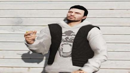 Photo of Gta 5 – Hoodie Jacket For Freemode/mp Male 1.1